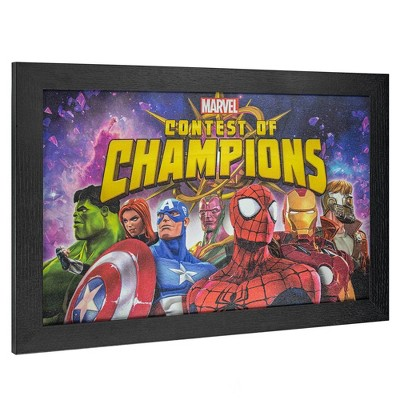 Avengers Licensed Marvel Contest of Champions Wall Art Red/Yellow/Blue - Crystal Art Gallery