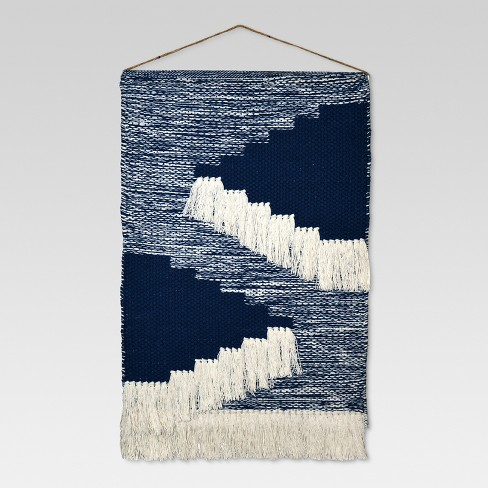 Woven Wall Hanging Blue 18x31 Threshold Target