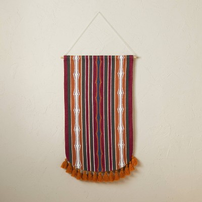"""18"""" x 30"""" Rug Woven Wall Hanging Red - Opalhouse™ designed with Jungalow™"""