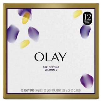 Olay Moisture Outlast Age Defying Beauty Bar Soap - 12pk - 3.17oz Each : Target