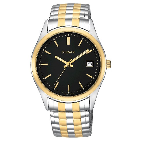 Men's Pulsar Calendar Watch - Two Tone with Black Dial - PXH428 - image 1 of 1