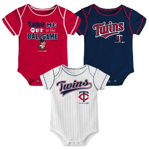 MLB Minnesota Twins Boys' 3pk Bodysuit Set - image 1 of 4