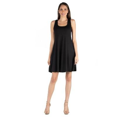 24seven Comfort Apparel Women's Sleeveless A Line Dress