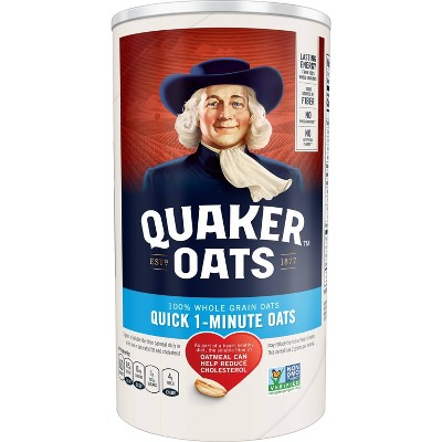 Oatmeal: Quaker Oats Quick 1-Minute Oats