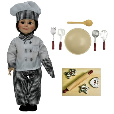 The Queenu0027s Treasures® 18 Inch Doll Clothes u0026 Accessories 16 Piece Chef Set  With Kitchen u0026 Baking Tools