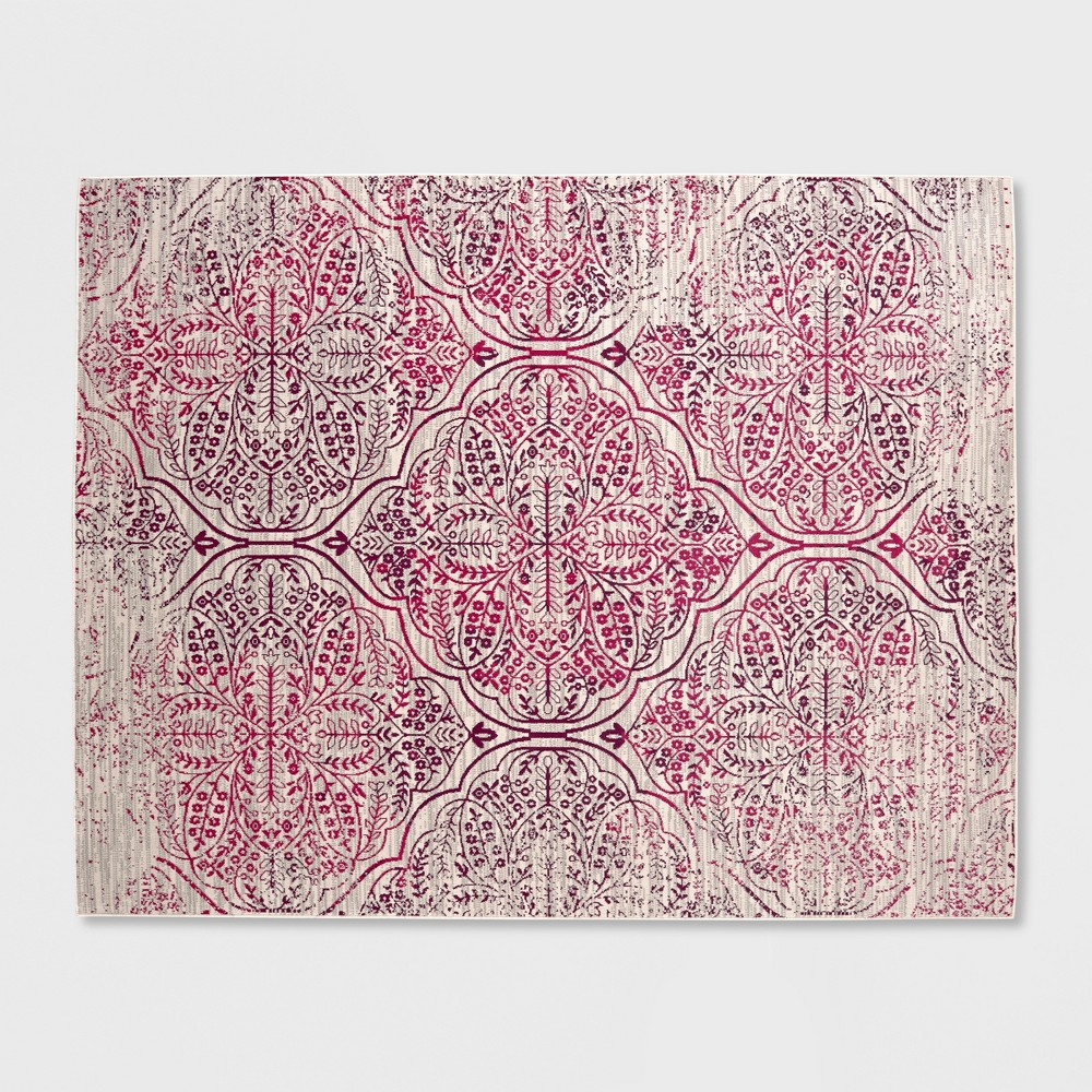 5' X 7' Tapestry Outdoor Rug Berry - Opalhouse, Gray Red White