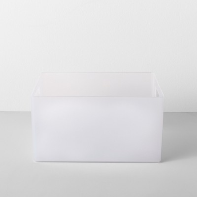 Extra Large Plastic Bathroom Organizer Bin With Handles 12 W X 9 D X 6.5 H Clear - Made By Design™