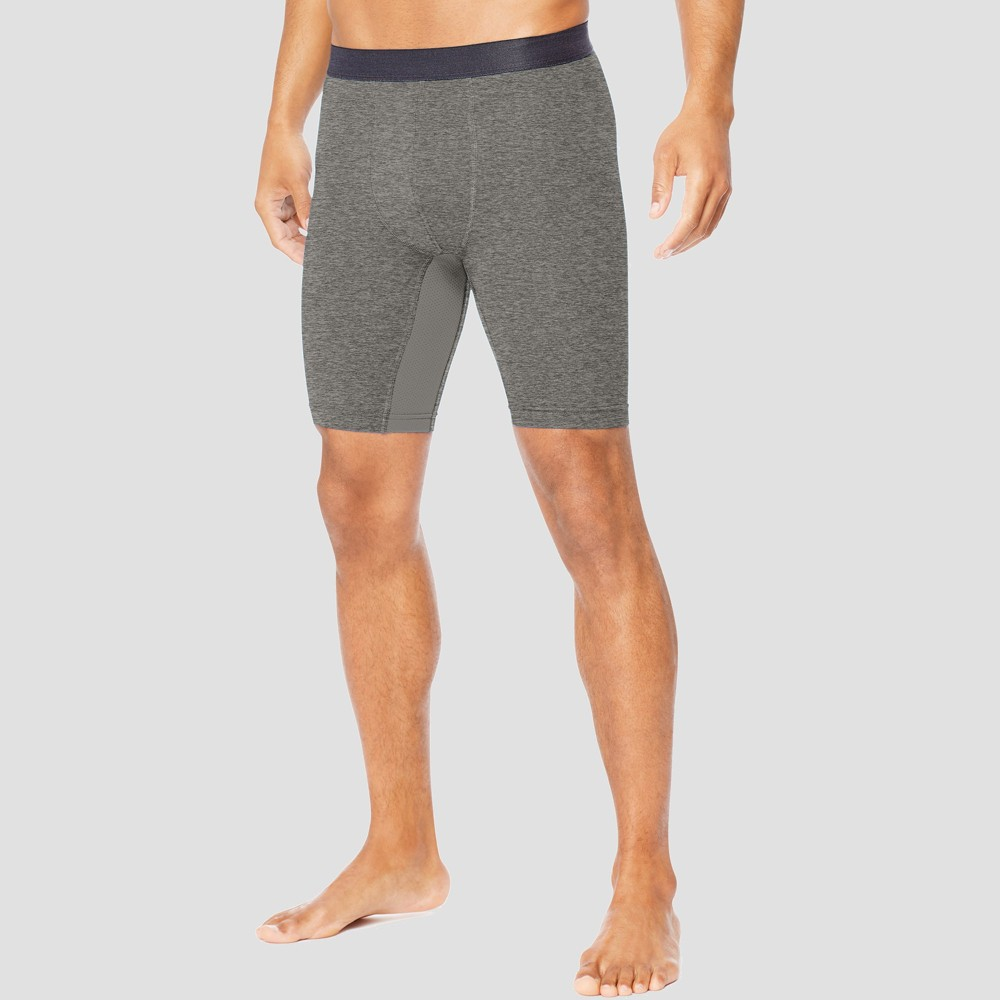 Hanes Sport Men's 9 Performance Compression Shorts - Charcoal Heather 2XL