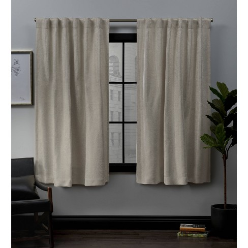 Lancaster Back Tab Blackout Window Curtain Panels - Exclusive Home - image 1 of 4