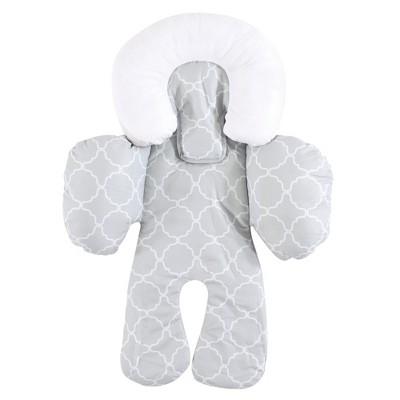 Hudson Baby Infant Unisex Car Seat Body Support Insert, Gray Trellis, One Size