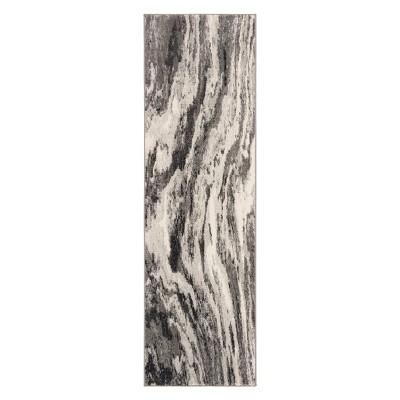 2'2 X7' Marble Loomed Runner Ivory/Gray - Safavieh