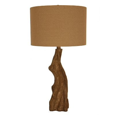 Delmare Driftwood Faux Table Lamp Wood - Decor Therapy
