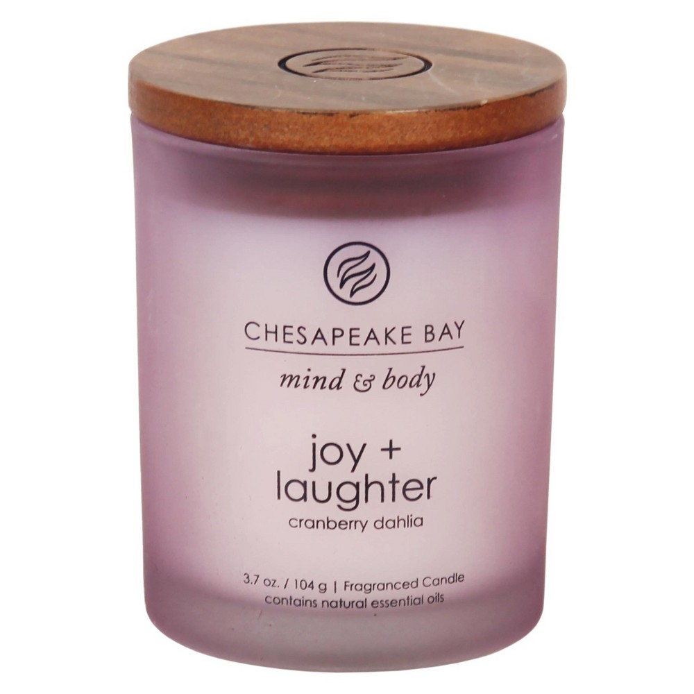Image of 3.7oz Small Jar Candle Joy & Laughter - Chesapeake Bay Candle, Purple