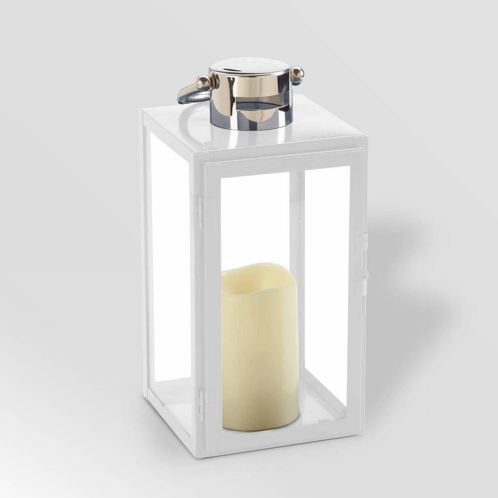 "Image of ""11"""" Nemo LED Candle Outdoor Lantern White - Smart Living"""