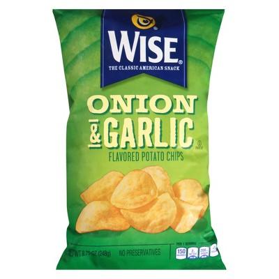 Wise Onion Garlic Potato Chips 8.75oz