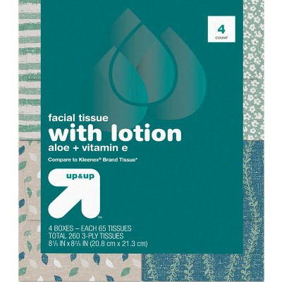 Facial Tissue with Lotion - 65ct - up & up™
