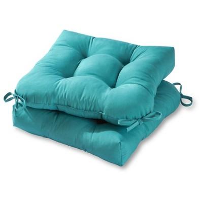 Set of 2 Solid Outdoor Seat Cushions - Kensington Garden