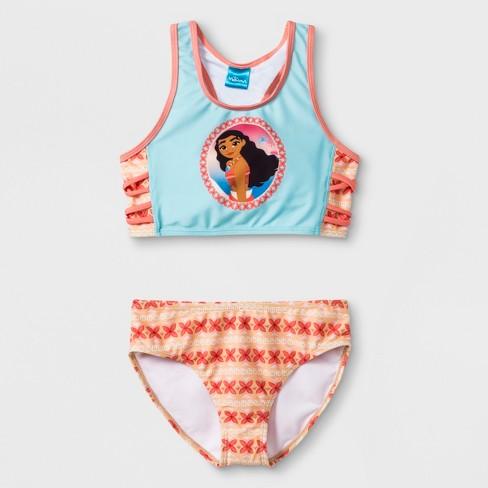 1bb2cd2d20062 Girls  Moana Bikini Set - Turquoise   Target