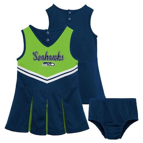 best website 7090e b1f83 Seattle Seahawks Toddler Girls' Cheer Set 3T