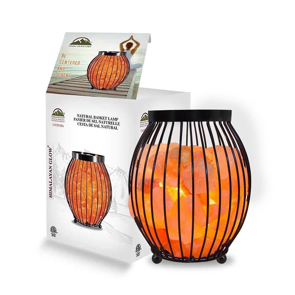 Image of Himalayan Glow - Natural Salt Lamp -Oval Basket
