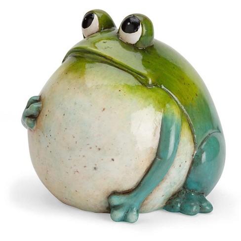 Wind Weather Hand Painted Indoor, Ceramic Frog Garden Decor