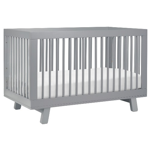 Babyletto Hudson 3-in-1 Convertible Crib with Toddler Rail, Gray
