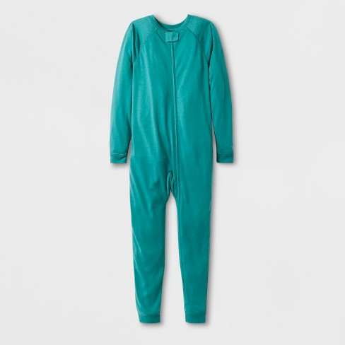 Kids' Adaptive Long Sleeve Reversible Union Suit - Cat & Jack™ Aqua - image 1 of 1