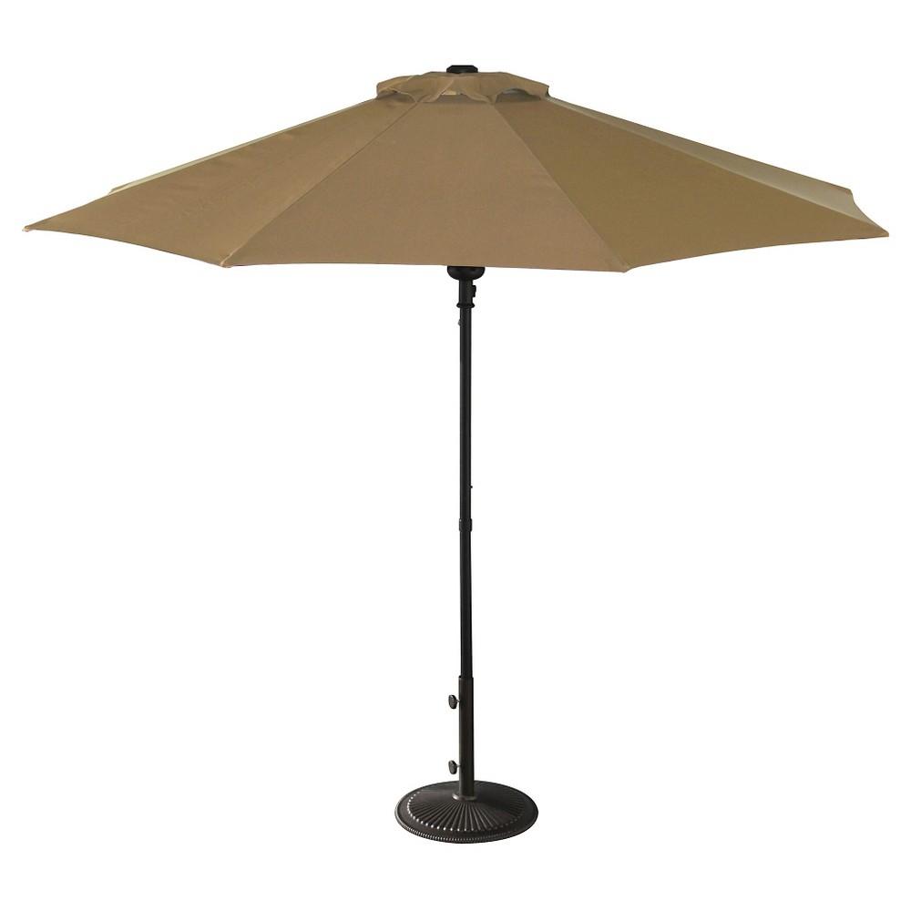 Island Umbrella Cabo 9 Market Umbrella In Stone Olefin