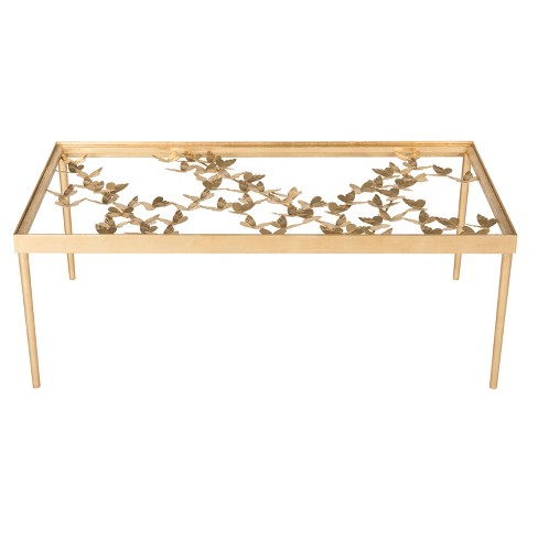 Rosalia Butterfly Coffee Table - Antique Gold Leaf - Safavieh® - image 1 of 4