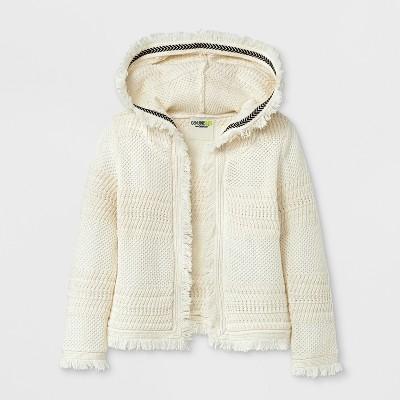 Genuine Kids® from OshKosh Toddler Girls' Knitted Hoodie Cardigan - Cream 18M