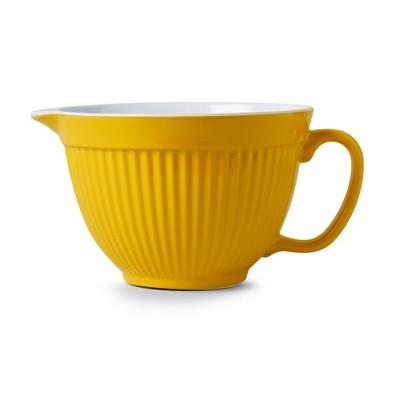"Zeal 8"" Retro Melamine Mixing Bowl Mustard"