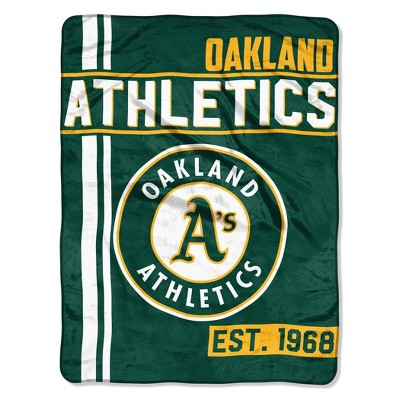 MLB Oakland Athletics Micro Fleece Throw Blanket