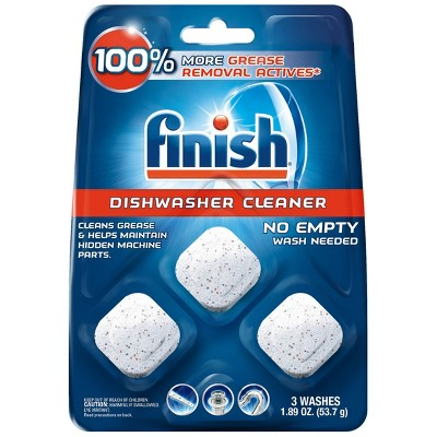 Finish In-Wash Dishwasher Cleaner with Grease Removal - 3ct