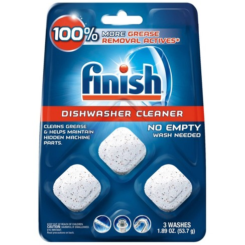 Finish In-Wash Dishwasher Cleaner with Grease Removal - 3ct - image 1 of 4