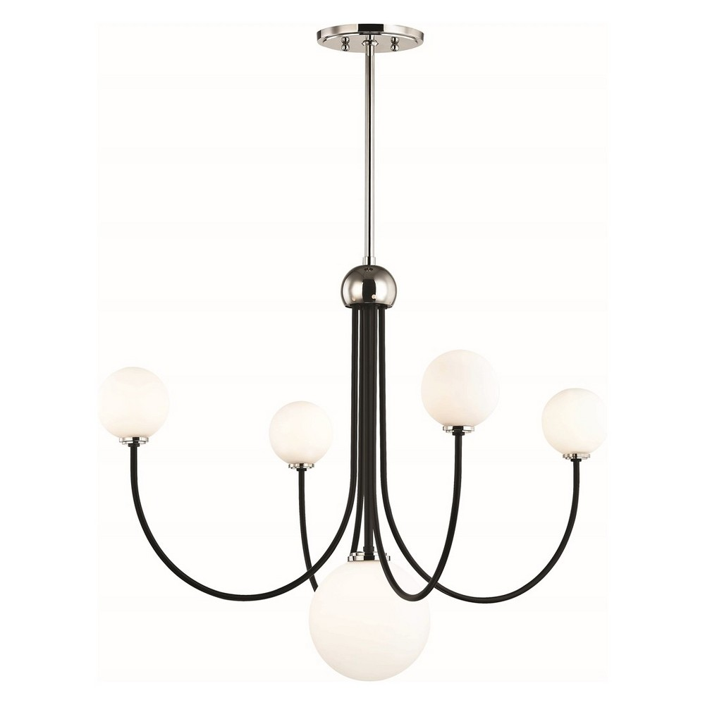 5pc Coco Light Chandelier Brushed Nickel - Mitzi by Hudson Valley