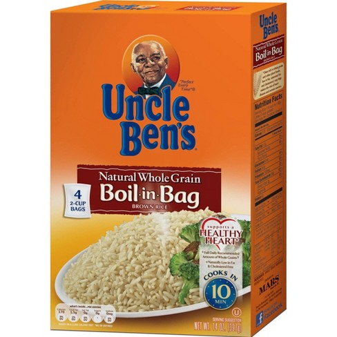 Uncle Ben's Boil-in-Bag Whole Grain Brown Rice - 14oz - image 1 of 4