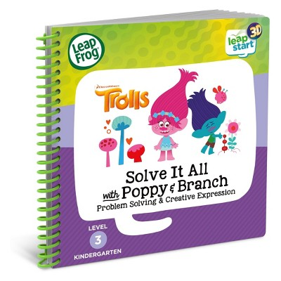 LeapFrog Leapstart Solve It All with Poppy and Branch Trolls Book - 3D