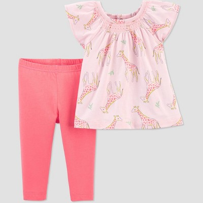 Baby Girls' Giraffe Top & Bottom Set - Just One You® made by carter's Pink