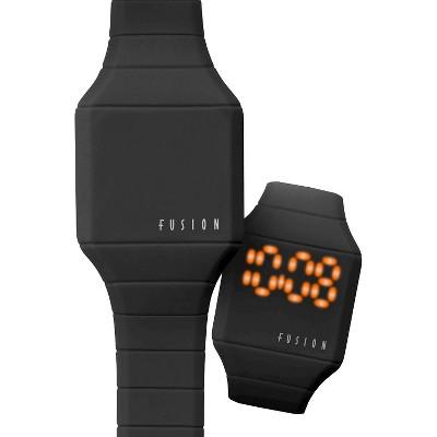 Boys' Fusion Hidden LED Digital Watch - Black