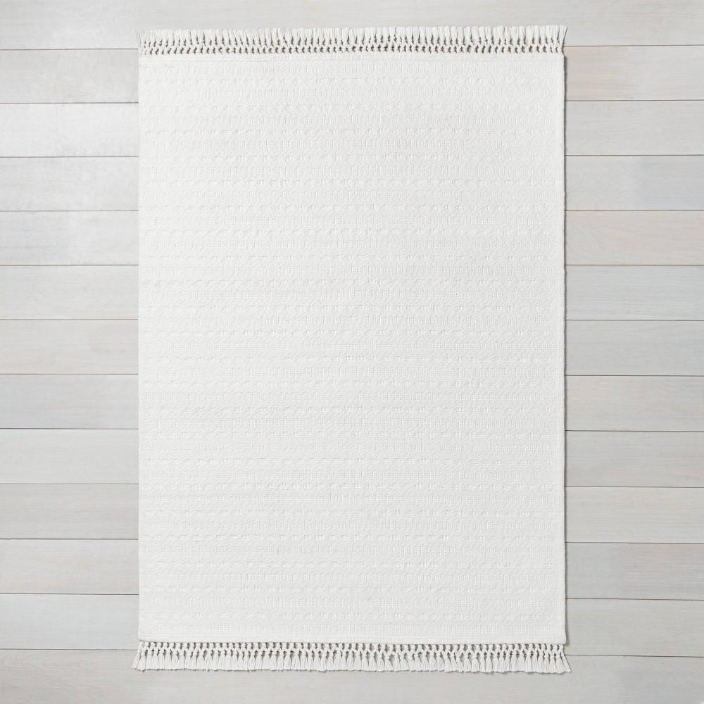 x 3' Stripe Area Rug Sour Cream
