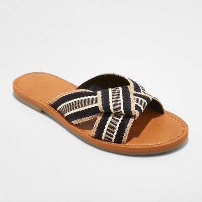 view Women's Rylie Knotted Slide Sandals - Universal Thread on target.com. Opens in a new tab.