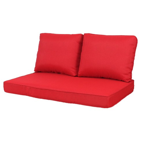 Rolston Outdoor Red 3pc Loveseat Cushion - Threshold™ - image 1 of 1