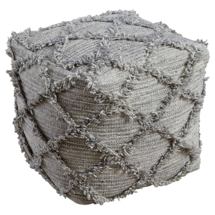 Adelphie Pouf Natural/Gray - Signature Design by Ashley - image 1 of 3