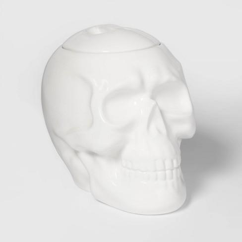 Skull Ceramic Halloween Candy Jar - Hyde & EEK! Boutique™ - image 1 of 2
