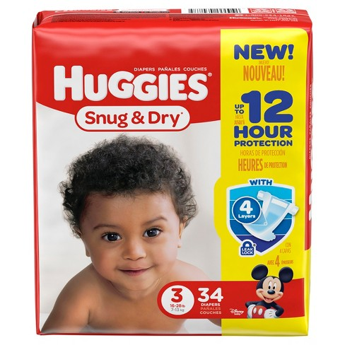 Huggies Snug & Dry Diapers - Size 3 (34ct) - image 1 of 3