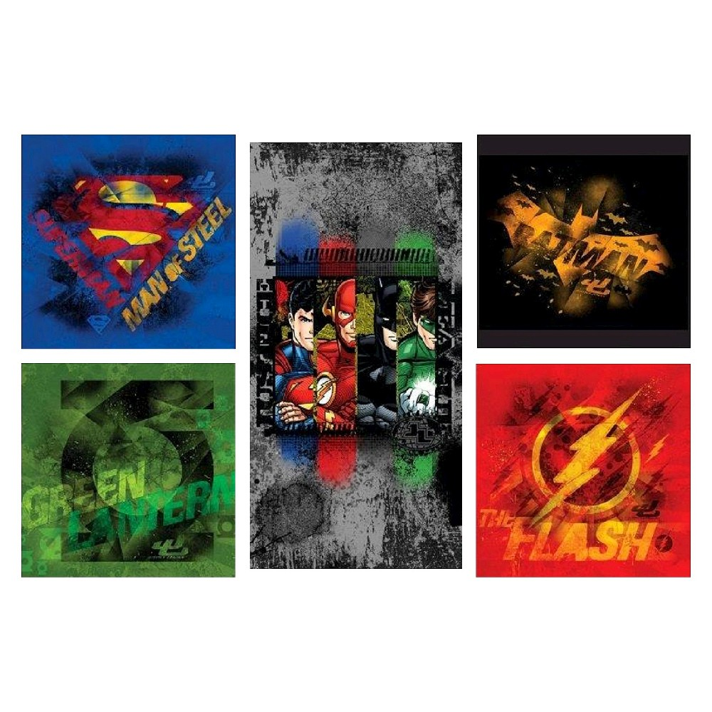 Image of Justice League Canvas Print - Set of 5