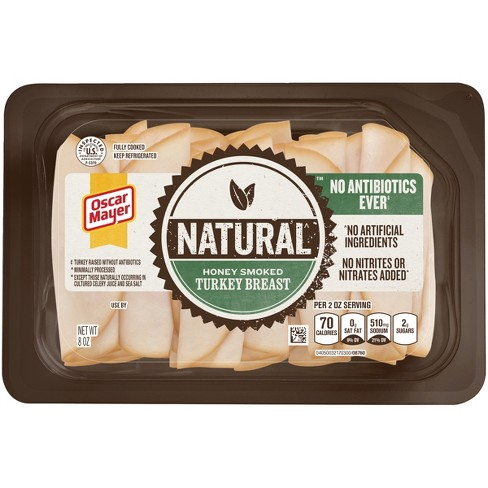 Oscar Mayer Natural Sliced Honey Smoked Turkey Breast - 8oz - image 1 of 1