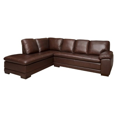 Palermo Leather Sectional   Abbyson Living