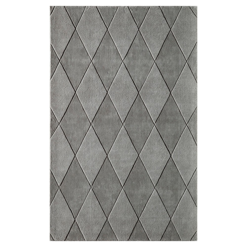 Sterling Gray Solid Loomed Accent Rug 3'3