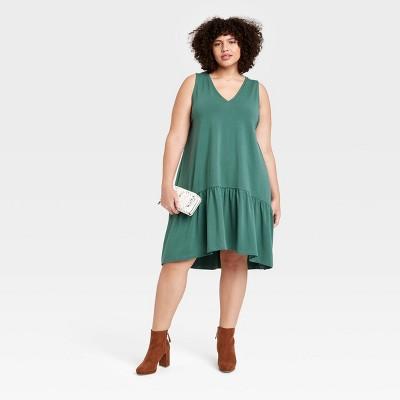 Women's Sleeveless Hem Knit Dress - A New Day™